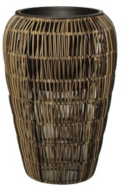 Home4you Flowerpot Wicker D45x70cm Grey