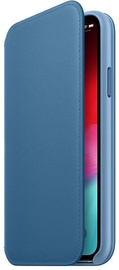 Apple Leather Folio Case For Apple iPhone XS Max Cape Cod Blue