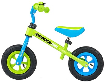 Lastejalgratas Milly Mally Dragon Air Balance Bike Green 2770