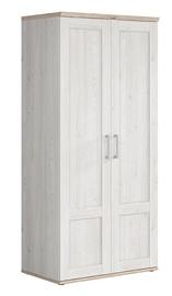 Riidekapp Black Red White Romance SZF2D Sibiu Larch/San Remo Oak, 93x57x201 cm