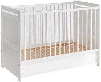 Детская кровать ASM Tymek White, 56x124 см