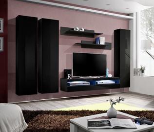 ASM Fly P11 Living Room Wall Unit Set Black