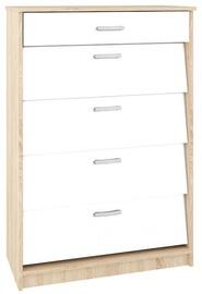Шкаф для обуви ML Meble ML 08 White, 800x400x1180 мм