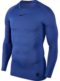 Nike Men's T-shirt Pro Top Compression LS 838077 480 Blue XL