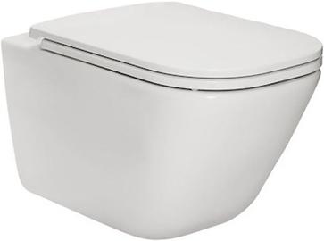 Seinapealne WC-pott Roca The Gap Rimless White, kaanega, 347x540 mm