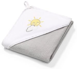 BabyOno Terry Hooded Towel 76x76cm Grey