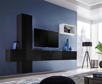 ASM Blox VI Living Room Wall Unit Set Black/White