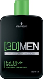Шампунь Schwarzkopf 3D Hair & Body, 250 мл