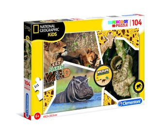 Pusle Clementoni National Geographic Kids Animals 27143, 104 tk