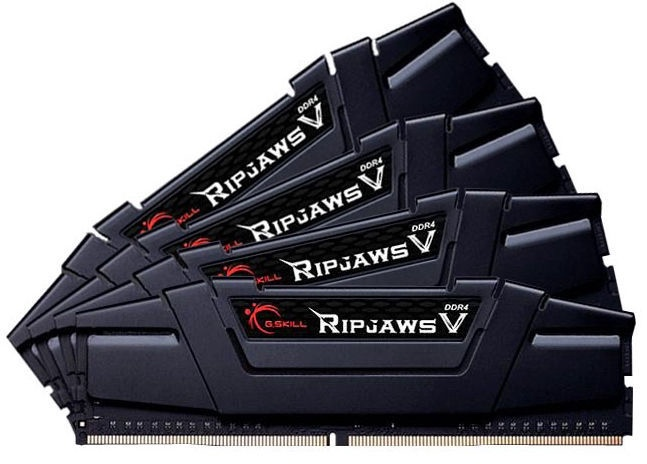 G.SKILL RipJawsV Black 32GB 3600MHz CL17 DDR4 KIT OF 4 F4-3200C14D-32GVK
