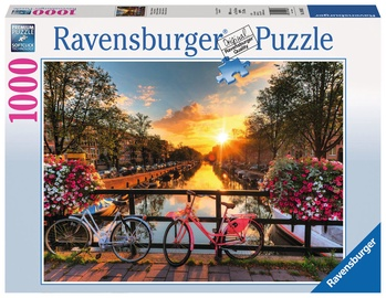 Ravensburger Puzzle 1000pcs Bicycles In Amsterdam 19606