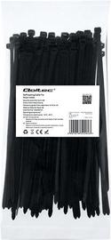 Qoltec Zippers Nylon UV 4.8x200mm 100pcs. Black