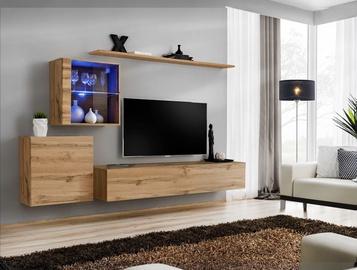 ASM Switch XV Living Room Wall Unit Set Wotan Oak