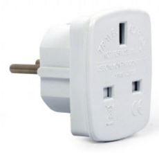 Gembird Adapter UK Socket to Schuko White
