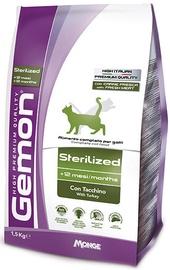 Monge Gemon Cat Sterilized with Turkey 1.5kg