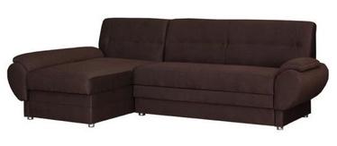 Угловой диван Bodzio Livonia Brown, 248 x 155 x 89 см