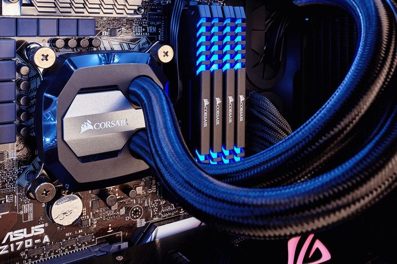 Corsair Vengeance LED Blue 16GB 2666MHz CL16 DDR4 KIT OF 2 CMU16GX4M2A2666C16B