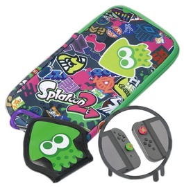 Hori Splatoon 2 Splat Pack incl. Pouch/Game Case And Thumb Caps