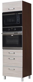 Bodzio Ola High Rise Oven Microwave Cabinet 60 Nut Latte