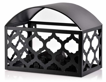 Mondex Kanvar Fireplace LED Lanterns Black