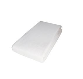 Простыня Domoletti Satin White, 160x200 см, на резинке