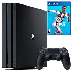 Sony Playstation 4 (PS4) Pro 1TB Black + Fifa 19