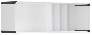 Black Red White Possi Light Cupboard 130x40cm White/Gray Tungsten