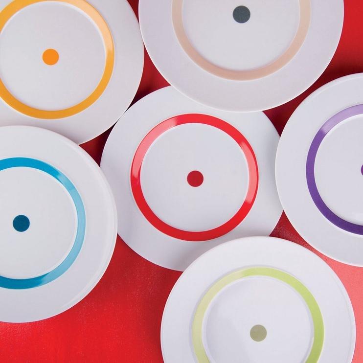 """ViceVersa Dessert Plate """"The Dot"""" 23cm Green"""