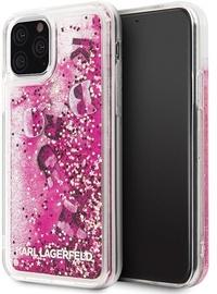 Karl Lagerfeld Glitter Back Case For Apple iPhone 11 Pro Rose Gold