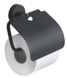 Gedy Eros Paper Holder With Cover 2325-14 Black