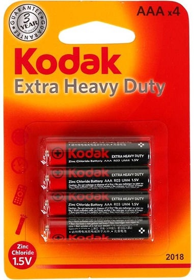 Kodak R03-4BB AAA Max Batteries 4x