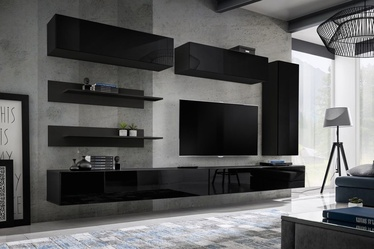 ASM Fly L1 Living Room Wall Unit Set Black