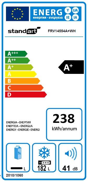 Sügavkülmik Standart FRV14554A+WH