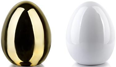 Mondex Lila Egg Ceramic Figure Gold/White 13x17cm