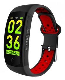 Фитнес-браслет ForMe Q6S, черный/красный