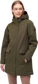 Audimas Long Water Repellent Womens Parka Olive Night L