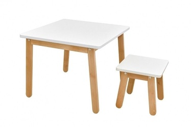 Lastemööbli komplekt Bellamy Woody Table And Stool White