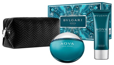Туалетная вода Bvlgari Aqva EDT, 100 ml + Бальзам после бритья, 100 мл