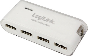 LogiLink USB 2.0 Hub 4-Port w/Power Supply White