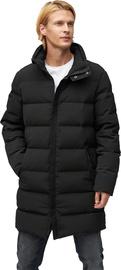 Audimas Mens Puffer Down Coat With Membrane Black XL
