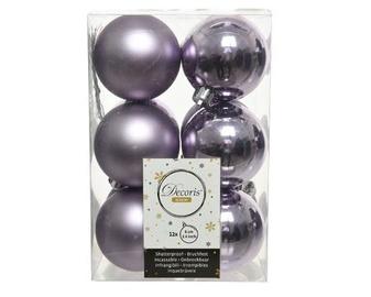 Елочная игрушка Decoris 21841 Purple, 60 мм, 12 шт.