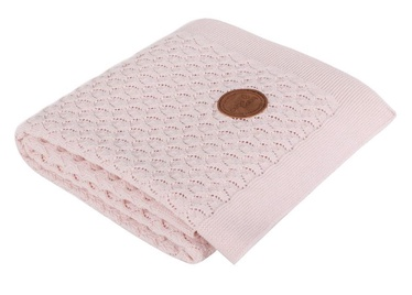 Ceba Baby Knitted Cotton Blanket 90x90cm Pink