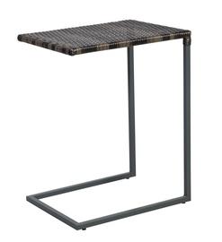 Садовый стол Home4you Wicker Dark Brown, 47.5 x 35 x 63 см