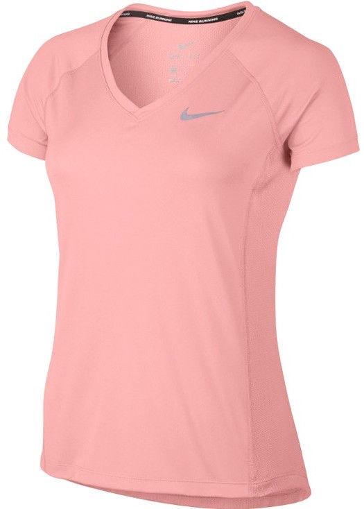 Nike Dry Miler Top V-Neck 831528-808 Pink M