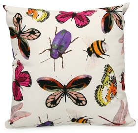 Home4you Holly Pillow 45x45cm Light/Insects
