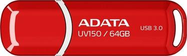 USB mälupulk ADATA DashDrive UV150 Red, USB 3.0, 64 GB