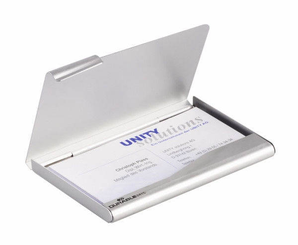 Durable Business Card Case 90x55mm Silver