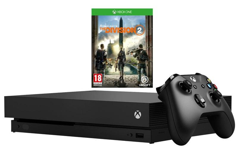Microsoft Xbox One X 1TB Black + Tom Clancy's The Division 2