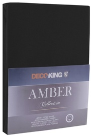 DecoKing Amber Bedsheet 140-160x200 Black