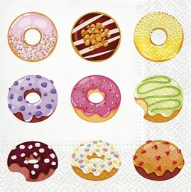 Paw Decor Collection Tasty Donuts Napkins 33x33cm